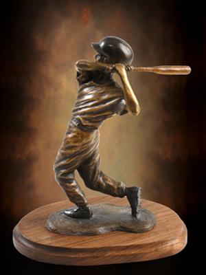 Bronze baseball sculptures, monumental ballpark bronze ... Little Boy Playing Baseball