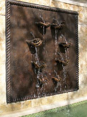Bronze Hands Fountain Tom White Monumental Bronze